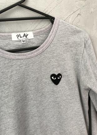 Play comme des garçons кофта оригинальная лонгслив лонг свитшот