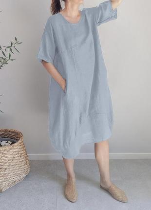 Шикарное льняное платье оверсайз.treaty boutique.