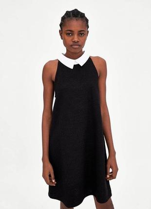 Твидовое платье рубашка zara