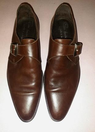 Мужские кожаные туфли из натуральной кожи. enrico piaceri  италия 🇮🇹