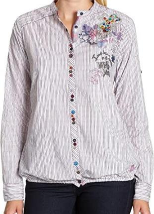 Яркая фирменная рубашка в разноцветную полоску desigual, 💯 оригинал, молниеносная отправка 🚀⚡