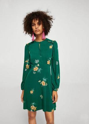 Платье в цветочный принт zara mango mango
