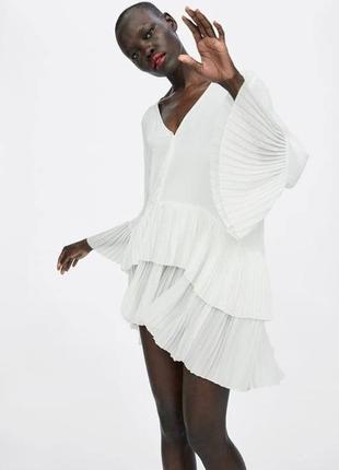 Платье туника блуза плиссированная zara