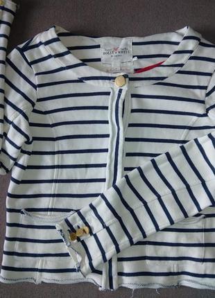 Жакет пиджак трикотажный в полосочку. размер 42-44-46. holly & whyte