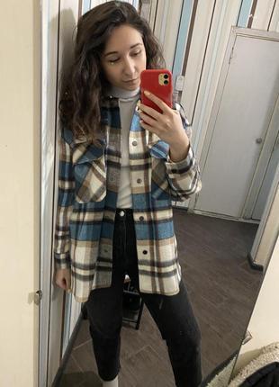 Zara рубашка в клетку