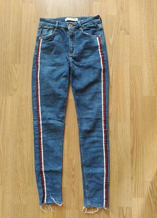 Стильные джинсы скини с лампасами zara🔥