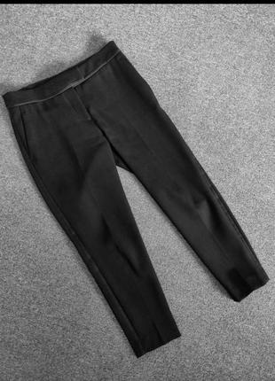 Розпродаж!якісні класичні вкорочені брюки з лампасами