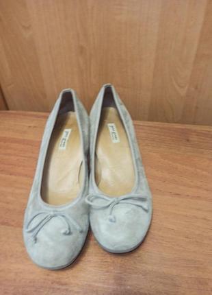 Замшевые туфельки paul green
