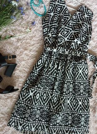 Чёрно-белое платье 100% коттон