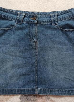 Джинсовая юбка лёгкая летняя