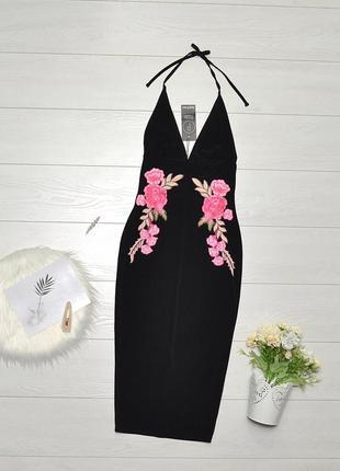 Красиве плаття карандаш з вишивкою boohoo.
