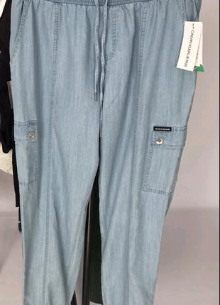 Calvin klein джинсы карго женские летние tencell размер м