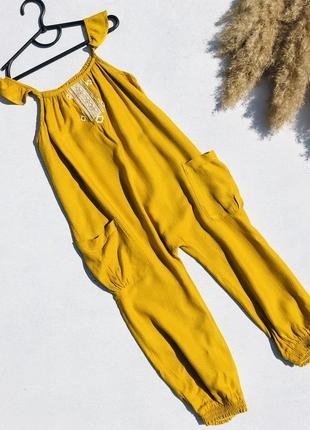 Комбинезон ромпер желтый