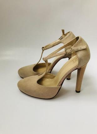 234! женские бежево-пудровые туфли vera pelle mps (mai piu senza).