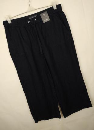 Брюки штаны новые шикарные льняные 100% лён marks&spencer uk 12/40/m