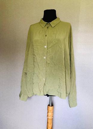 Рубашка пастельная зелена хлопок база