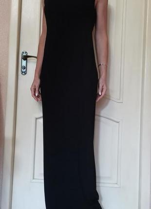 Длинное черное платье, сарафан