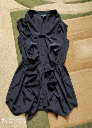 Рубашка блуза блузка туніка туника удлененная мини