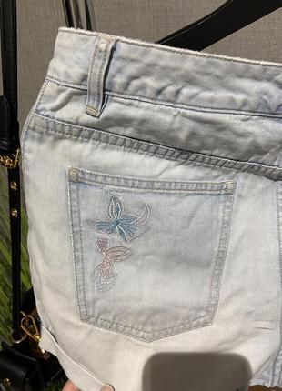Крутые высокие джинсовые фирменные шорты next5 фото