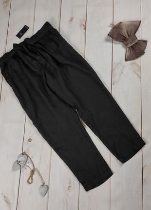 Штаны брюки новые льняные шикарные большой размер 100% лён! marks&spencer uk 22/50/4xl