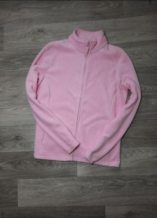 Флисовая кофта, флиска розовая