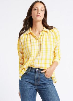 Рубашка 100% хлопок  marks & spencer размер европ. 52