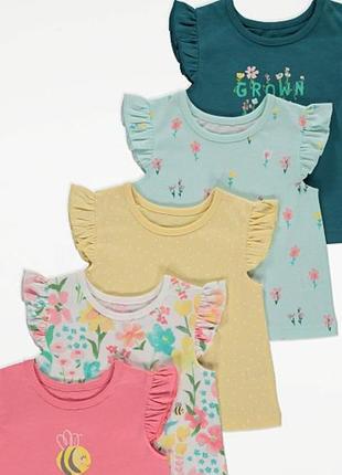 Легенькі футболки для дівчтнки george