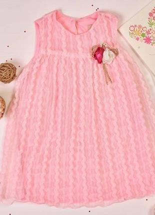 Рожевий дитячий сарафан для дівчаток! виробництво туреччина