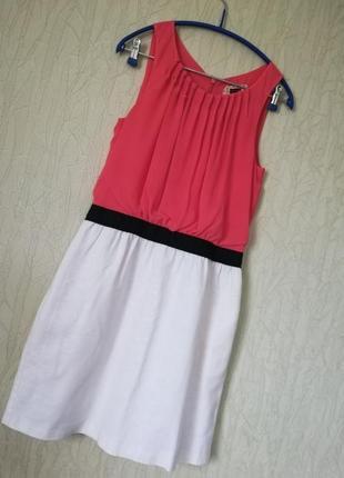 Лен + коттон льняное платье в стиле zara boohoo