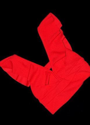 Топ xs / s женский с воланами оборками можно для стрип-пластики go-go pole-dance красный