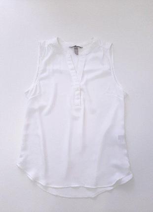 Блузка белая h&m р. 36 165/84а