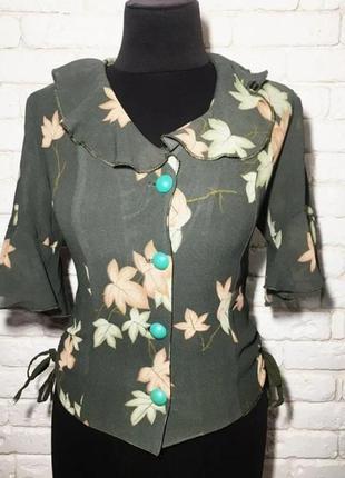 Женская летняя нарядная блузка шифон