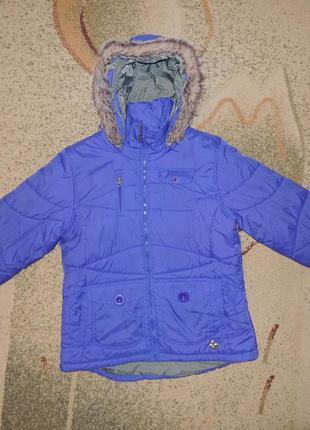 Фирменная зимняя куртка protest р.l