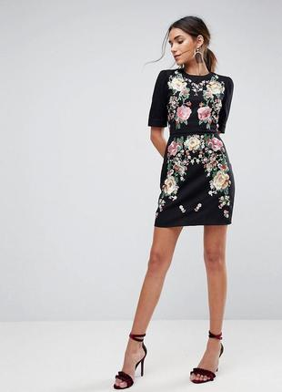 Котоновое платье с вышивкой asos premium р. 36