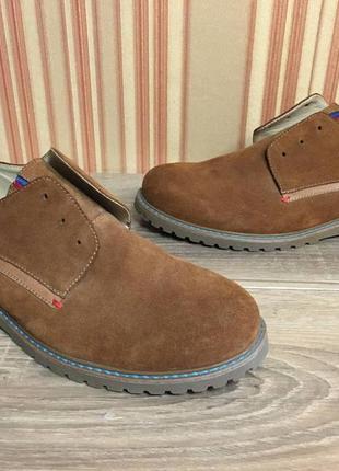 Замшевые мужские туфли ручной работы