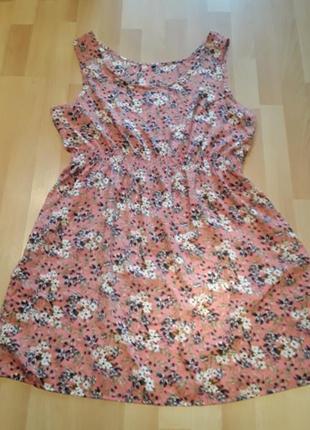Легкое платье в красивом принте,батал