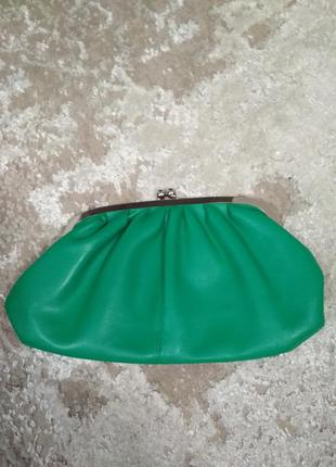 Красивый клатч сумочка косметичка зеленый