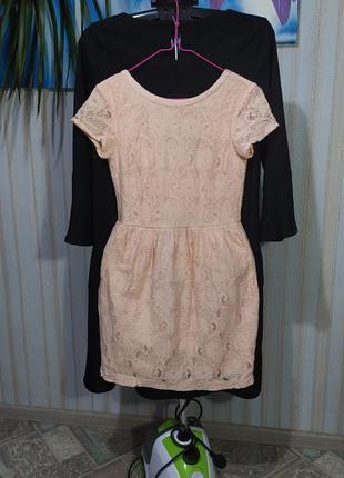Милое персиковое платье от h&m