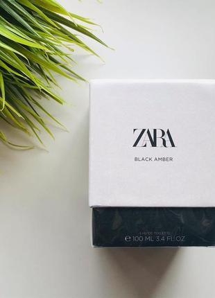 Парфюм/туалетная вода zara black amber 🖤