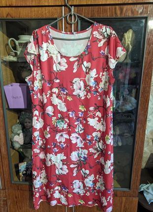 Летнее платье 56-58