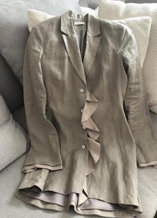 Роскошный пиджак жакет лён и рами