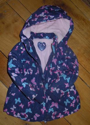Демисезонная куртка,парка на девочку 12-18 мес.1