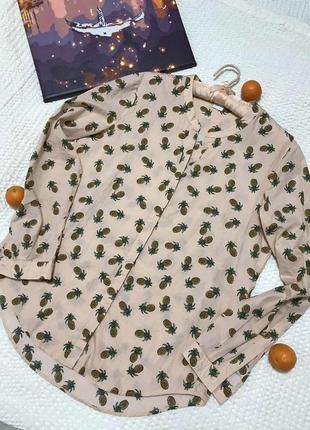 Летняя натуральная рубашка с ананасиками hugo boss