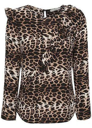 🌺🎀🌺красивая легкая женская леопардовая кофта, блузка george🔥🔥🔥