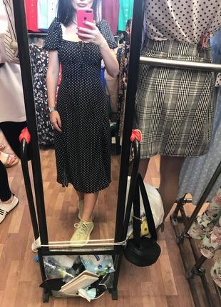 Платье корсет в горох