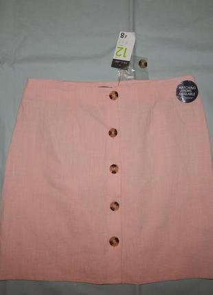 Primark юбка модная легкая натуральная uk12 eur40 новая