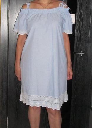 Котоновое платье tchibo р. 14-16