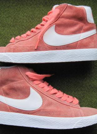 Nike blazer (37,5, 24 см) замшевые кроссовки женские