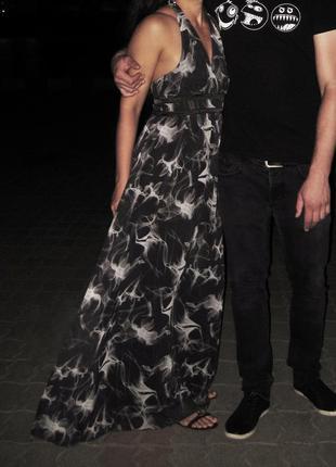 Платье длинное в пол love republic чёрное серое вечернее выпускное