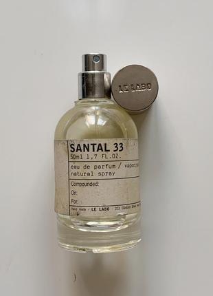 Santal 33 le labo парфюм